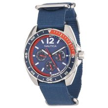 Nautica N11566G Mens Blue Dial Analog Quartz Watch with Nylon Strap
