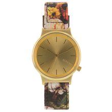 Komono W1829 Womens Gold Dial Analog Quartz Watch with Fabric Strap