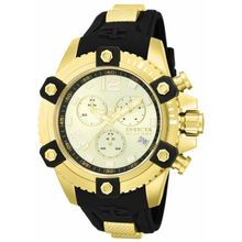 Invicta 80362 Mens Gold Dial Analog Quartz Watch with Polyurethane Strap