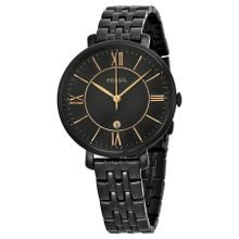 Fossil ES3614 Womens Black Dial Analog Quartz Watch with Stainless Steel Strap