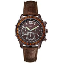 Guess U0017L4 Womens Brown Dial Quartz Watch with Leather Strap