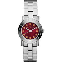 Marc Jacobs MBM3335 Womens Red Dial Analog Quartz Watch