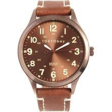 Tokyobay T227-BR Unisex Brown Dial Analog Quartz Watch