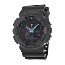 Casio G Shock GA100C-8ACR Mens Black And Blue Dial Dual Quartz Watch