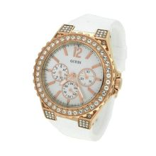 Guess U16529L1 Womens Mop Dial Quartz Silicone Strap Watch