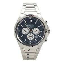 Citizen AN8020-51L Mens Blue Dial Quartz Watch with Stainless Steel Strap