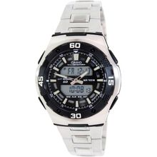 Casio AQ164WD-1AV Mens Digital Dial Dual Quartz Watch with Stainless Steel Strap