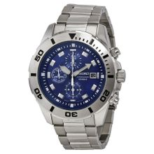 Seiko SNDD97 Mens Blue Dial Analog Quartz Watch with Stainless Steel Strap