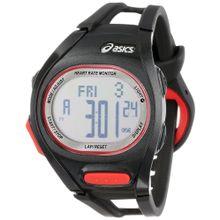 Asics CQAH0101 Mens Silver Dial Digital Quartz Watch with Polyurethane Strap