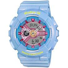 Casio BABY-G BA-110CA-2A Womens Analog & Digital Quartz Light Blue Watch
