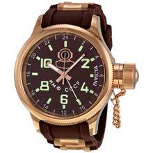 Invicta 7240 Mens Brown Dial Analog Quartz Watch with Stainless Steel Strap