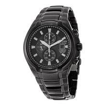 Citizen CA0265-59E Mens Black Dial Analog Quartz Watch with Titanium Strap