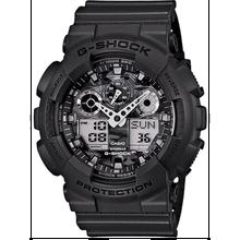 Dark Grey Casio G-Shock Analog Digital Camouflage Watch GA100CF-8A