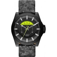 Diesel DZ1658 Mens Black Dial Analog Quartz Watch with Leather Strap