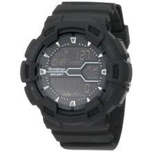 Armitron 40/8246MBLK Mens Black Dial Digital Quartz with Resin Strap Watch