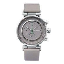 Issey Miyake NY0Y002Y Mens Grey Dial Analog Quartz Watch with Leather Strap