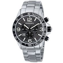 Torgoen T35202 Mens Grey Dial Quartz Watch with Stainless Steel Strap