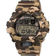 Casio GMDS6900CF-3 Unisex Brown Dial Digital Quartz Watch with Resin Strap