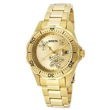 Invicta 12508 Womens Gold Dial Analog Quartz Watch with Stainless Steel Strap