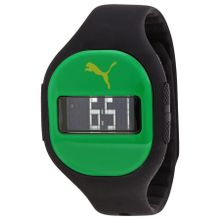 Puma Fuse PU910921008 Unisex Green Dial Digital Quartz Watch with Silicone Strap