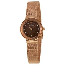 Skagen 456SRR1 Leonora Womens Brown Mop Dial Analog Quartz Watch