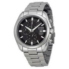 Citizen CA0020-56E Mens Black Dial Analog Quartz with Titanium Strap Watch
