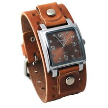 Nemesis BB516B Mens Brown Dial Analog Quartz Watch with Leather Strap