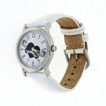 Juicy Couture 1900587 Womens White Dial Analog Quartz Watch with Leather Strap