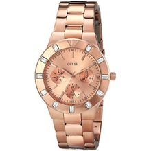 Guess U13013L1 Womens Gold Dial Quartz Watch with Stainless Steel Strap