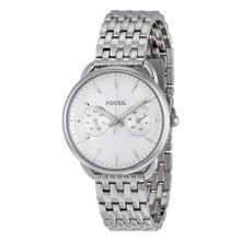 Fossil ES3712 Tailor Womens White Dial Analog Quartz Stainless Steel Watch