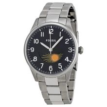Fossil FS4848 Mens Black Dial Analog Quartz Watch with Stainless Steel Strap