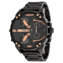 Diesel DZ7312 Mens Black Dial Analog Quartz Watch with Stainless Steel Strap