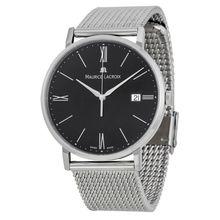 Maurice Lacroix EL1087-SS002-310 Mens Black Dial Analog Quartz Watch