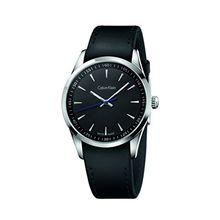 Calvin Klein K5A311C1 Mens Black Dial Quartz Leather Strap Watch