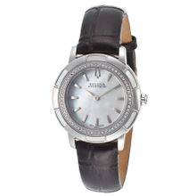Bulova 63R137 Womens Mop Dial Quartz Watch with Leather Strap