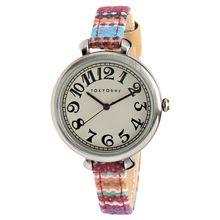 Tokyobay T016-BR Womens White Dial Analog Quartz Watch