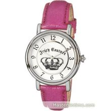 Juicy Couture 1900573 Womens Silver Dial Analog Quartz Watch with Leather Strap