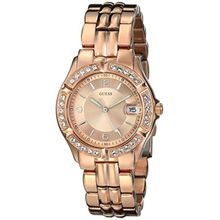 Guess U11069L1 Womens Gold Dial Quartz Watch with Stainless Steel Strap