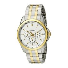 Citizen AG8344-57A Mens Beige Dial Quartz Watch with Stainless Steel Strap
