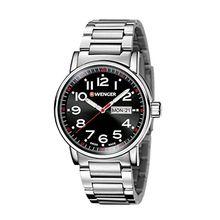 Wenger 01.0341.104 Mens Black Dial Analog Quartz Watch