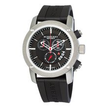 Burberry BU7700 Mens Endurance Black Chronograph Dial Rubber Strap Watch