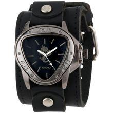 Nemesis LBB928S Mens Black Dial Analog Quartz Watch with Leather Strap