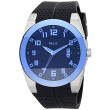 Relic Men's ZR11861 Jake Stainless Steel Watch with Black Rubber Band