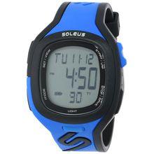 Soleus SR016040 Mens Grey Dial Digital Quartz Watch with Resin Strap