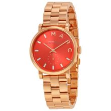 Marc By Marc Jacobs MBM3344 Womens Red Dial Analog Quartz Watch