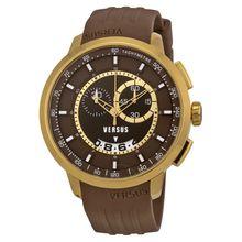 Versus By Versace SGV120014 Mens Brown Dial Analog Quartz Watch
