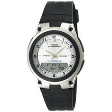 Casio AW80-7AV Mens White Dial Dual Quartz Watch with Resin Strap