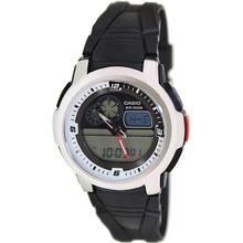 Casio AQF102W-7BV Mens Digital Dial Dual Quartz Watch with Resin Strap