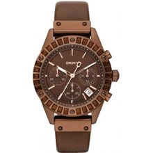 Dkny NY8654 Womens Brown Dial Chronograph Watch