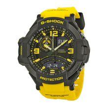 Casio G-Shock GA1000-9B Mens Aviation Black Dial Yellow Resin Watch